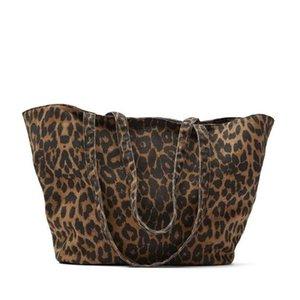 Fashion Designer Luxury Leopard Grain Shopper Shoulder Bag Large Capacity Handbags Women's Female Casual Tote Canvas Hand 210908