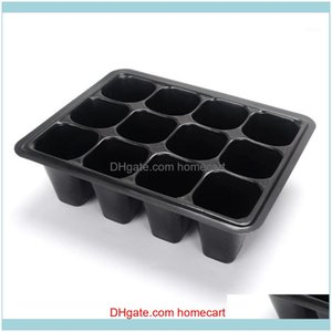 Planters Pots Patio, Lawn & Garden6 12-Hole Seedling Box Seed Plant Starter Tray Supply Home Gardening Garden Supplies Tb Sale1 Drop Deliver