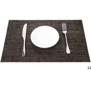 8 Color For Dining Mats Heat-Resistant Placemats Stain Resistant Washable Pvc Kitchen Table HWF11019