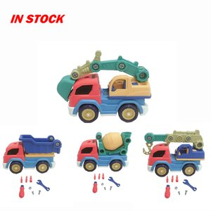Diy Construction Engineering Car Stem Tool Learning Toys Building Play Kids Children Nut Disassembly And Assembly Diecasting Car