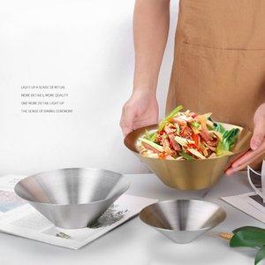 Japanese Style Ramen Bowl Salad Snack Dish Restaurant Decorative Golden Home Soup Bowls Eating Noodles Large Hat Dishes