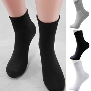 Men's Socks 100% Cotton 5 pairs lot Solid Black Grey Socks in tube Men Breathable Healthy Men wjl0380