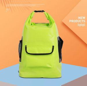 PVC Waterproof Dry Bag 22L Outdoor Foldable Trekking Beach Swimming Rafting River Ocean Backpack
