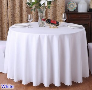 Wedding Christmas Birthday Party Hotel Decoration Solid Color Round Polyester Plain Table Linen 24 Colours Wholesale