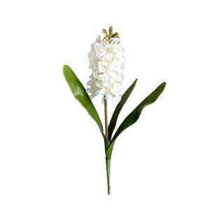 Simulación Flor Hyacinthus Orientalis Decoraciones románticas y cálidas Material: PE Real Touch Plástico Plantas Artificiales Flores Decorativas