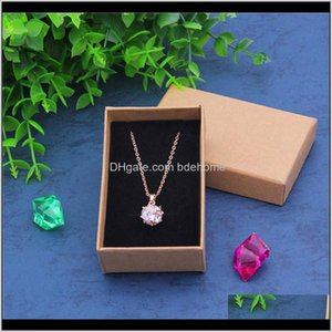 Jewelry Pouches Bags 24Pcslot 5Cmx8Cm Paper Kraft Cardboard Gift Box For Necklace Ring Soap Pendant Personalized Packaging Can Custom Wkhn3