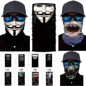 Halloween Skeleton Face Mask Scarf Joker Headband Balaclavas Skull Masquerade Masks for Ski Motorcycle Cycling Fishing Outdoor Sports VFIS