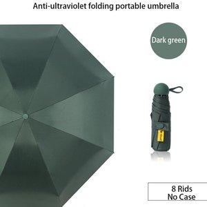 Umbrellas 8 Rids UV Folding UPF 50+ Five-holding Sun Protection Female Sunshade Rain Dual-use Compact