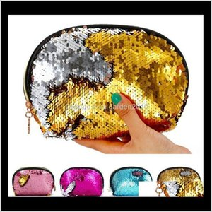 Organization Home & Garden Drop Delivery 2021 Housekeeping Colorful Handbags Office Supplies Sequins Purse Bag Pocket Sequin Cosmetic Storage