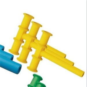 Yellow Chew Tube Sensory Toys T Shape Chewy Teether Tube for Kids Children Autism ADHD Special Needs 312 Y2