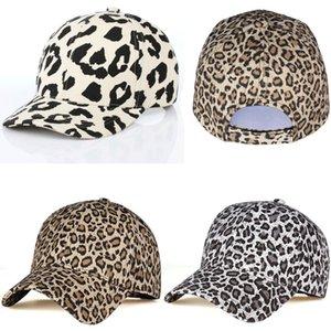 New Women Men Sports Leopard Cheetah Print PanelStrapback Camp Hat retro animal Baseball Cap Adjustable Travel Sport
