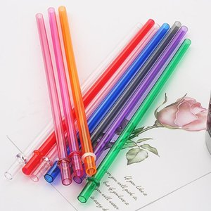 Plastic Drinking Straws for Juice long hard straw food grade material safe healthy durable home party garden use RH1908