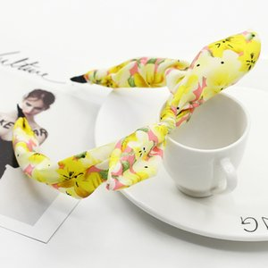 Hairband For Women Hair Jewelry Fabric Bow Knot Hair Hoop Rabbit Ears Headband for Headwear Women Hair Accessories WD951027 767 S2
