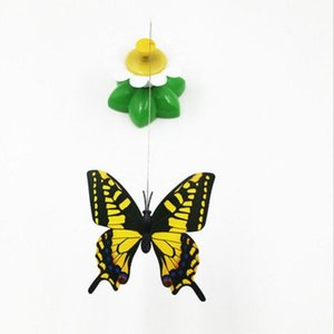 5.5cm Electric Rotating Colorful Butterfly Bird Pet Seat Scratch Toy For Cat Creative Automatic Rotation Teaser Cats Supply Toys