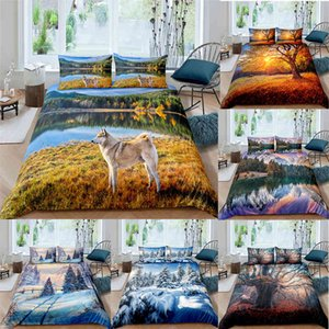 Bedding sets 3D Luxury Natural Scenery Duvet Cover Set King Queen Bedspread Horse With Pillowcase Kids Adults Bedclothes