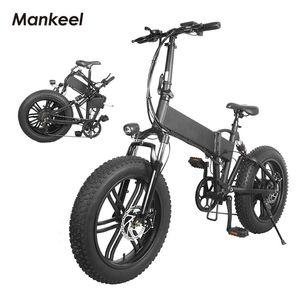 Mankeel MK011 Electric Bicycle Foldable smart scooter 20inch 500W Power LED light E-bike Battery 40KM Mileage Sport Mountain Bikes