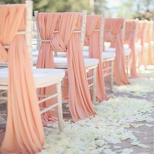 High Quality Chiffon Chiavari Chair Sashes Cover Hoods for Weddings Events Banquet Party Decoration Fancy Chiffon Sash Tie ZHL1540