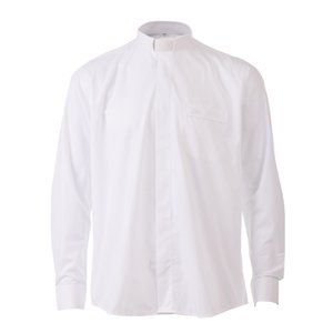Pastor Clergy Shirts Priest Costume Tab Collar White Black Minister Preacher Short Sleeve Tops Church Uniform
