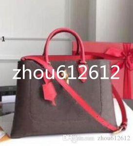High quality FLOWER briefcase TOTE female shoulder handbags M43553 canvas women commuter bags lady tote bags Female best wallet purse M43550