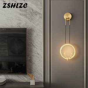 Wall Lamps Indoor Home Lamp 15w Copper Light Modern For Living Room Dining Kitchen Bedroom Aisle&Corridor Wandlamp