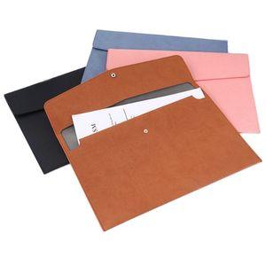 Katı Renk A4 Dosya Cep Dayanıklı Dizüstü Bilgisayar Klasörleri Çanta Taşınabilir Dosyalama Arşiv Saklama Torbaları Okul Ofis Makaleleri BH4778 TQQ