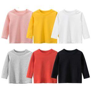Melario Boys T-shirt Girls Clothing New Autumn Spring Fashion Children Top Long Sleeve Girls Cute Clothes Kid Pullover 210412