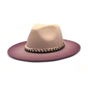 Hat Jazz Caps European American Round Cap Bowler Hats Winter Autumn Imitation Woolen Women Men Ladies Fedoras Top WLL691