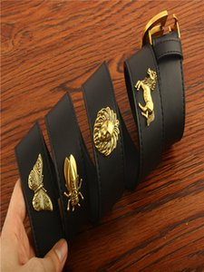 Top Quality Men Designer Belt With Box Gift Bag Dust Receipt Real Cowhide Genuine Leather Fashion mens womens belts Gold Buckle