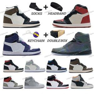 Mens Basketball Shoes 1 1s High Dark Mocha Phantom Gym Red Light Smoke Grey Turbo Green Chicago Black Toe Sneakers Women Sports Trainers