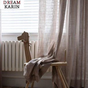 Curtain & Drapes Modern Solid Color Tulle Curtains For Bedroom Living Room Kitchen White Linen Sheer Japan Voile Window
