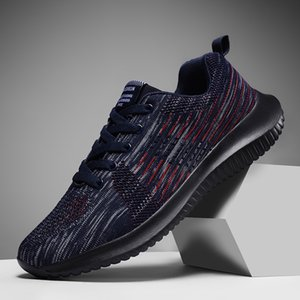Fashion runners breathable soft sole men running shoes mens black multi-color white runner sports sneakers trainers 39-46