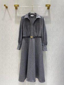 Milan Runway dresses 2021 Autumn Winter Print Panelled Women's Designer Dress Brand Same Style skirts 1019-19