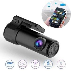 Mini Hidden 1080p Full Veículo HD DVR DVR DASH CAM WIFI Câmera de 170 Graus Sem Fio Telefone Móvel Interconexão Auto Registrator