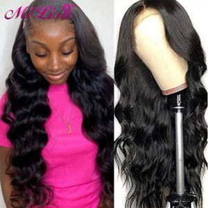 Lace Frontal Wig Brazilian Body Wave 13x6 Front Human Hair Wigs For Black Women 30inch MI Lisa Remy 13x4