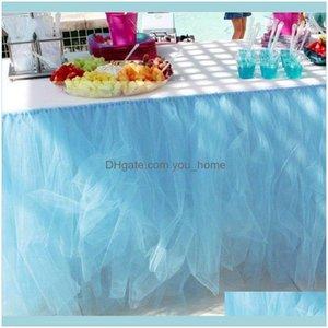 Cloths Textiles & Garden80X100Cm Party Wedding Table Tulle Skirt Banquet Partys Celebration Event Home Desk Decor1 Drop Delivery 2021 Y9Egb