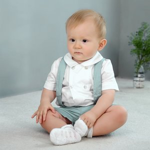 Baby Boy Children Sets Boutique Cotton Short Sleeve Casual Infant Shirt Overalls Suits Spanish Birthday Party Clothing
