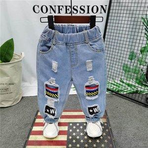 Kids Jeans Denim Hole Boys Jean Long Baby Pants Trousers Spring Autumn Children Clothes Fashion Clothing 2-6T B4598