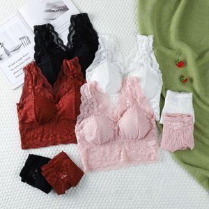 Bras Women Lace Seamless Push Up Backless Soft Bra Set Female Solid Color Comfortable Underwear