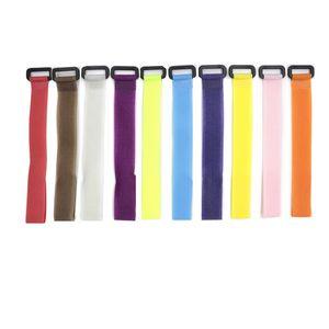 10 pçs / lote reutilizável vara de pesca gravata titular suspensórios Suspenders Fastener Gancho Loop Cabo Cabo Gravatas Cinto Acessórios de pesca 780 Z2