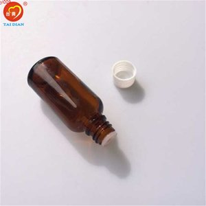 Wholesale 30ml Amber Glass Bottles with Leakproof Stopper Cap Liquid Jars Essential Oil Bottle 24pcs lotjars
