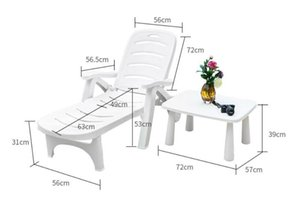 High Quality Thicken Sun Lounger Folding Portable Outdoor Leisure Beach Chiar Pool Chairs With Side Table Camp Furniture