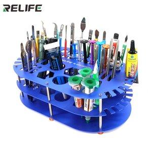 Professional Hand Tool Sets RELIFE RL-001D Storage Rack Welding Oil Tweezers Screwdriver Box For Mobile Phone Repair Desk Desktop Finishing
