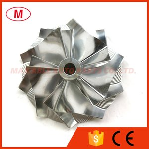 CT26 48.04 68.00mm 5+5 blades Performance Turbo Billet compressor wheel Aluminum 2618 Milling wheel for Turbochrager Cartridge CHRA Core