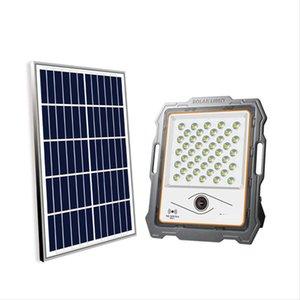 Солнечные лампы садовые света мониторинг наводнения прожектор светодиодный подсветка открытый смарт с камерой камеры 300W 400W
