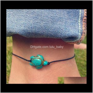 Jewelry Drop Delivery 2021 Luxury Boutique Europe And The United States Msdot Turtle-Shaped Anklets 2W9I7