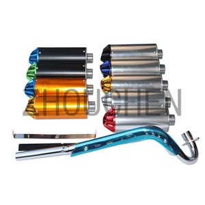Pit Type Off-road Vehicle Exhaust Muffler Pipe System For 70cc-125cc Thumpstar Orion Baja Apollo CRF ATV Motorcycle