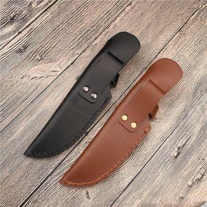 حقيبة حقيبة مستقيم بليد غمد مع الافتتاح أعلاه لحزام سكين حامل الجلود غطاء مخيم أدوات الحافظة HWE6212