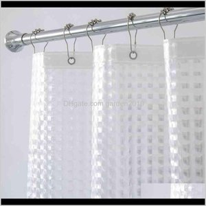Curtains Aimjerry Heavy Duty 3D Eva Clear Shower Liner Set For Bathroom Waterproof Curtain 210402 Tqzrq Uipjt
