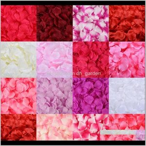 Dekorative Blumen Kränze Festliche Partei Liefert Home Garten Drop Lieferung 2021 1000 stücke Künstliche Rose Dekoration Hochzeitsraum Arrangemente