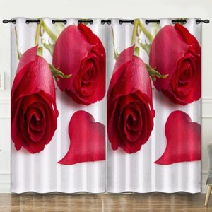 Curtain & Drapes Festival Flowers Room Decoration Background Cloth Pink Curtains Luxury3